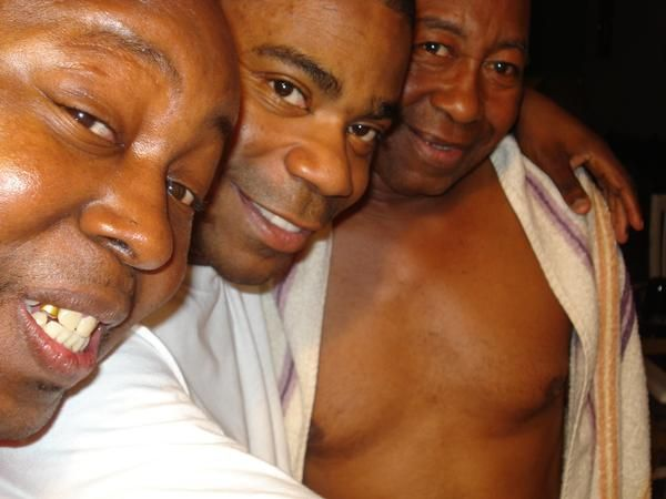 "Actual Caption, ""ME AND MY DOG TRACY MORGAN(A.K.A.)HUSTLE MAN AND MY DAD (A.K.A)BIG DAD"""